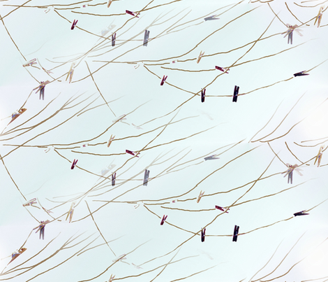 Clothesline_Saturday fabric by ddmote on Spoonflower - custom fabric