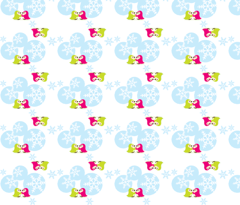 Snow Penguins fabric by malien00 on Spoonflower - custom fabric