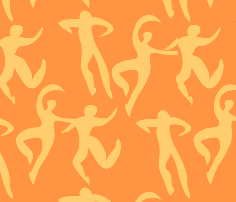 Dancers fabric by linesmith on Spoonflower - custom fabric