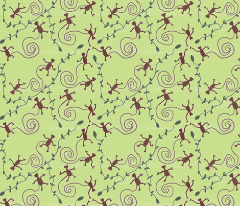 monkeys & vines fabric by nicholeann on Spoonflower - custom fabric