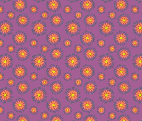 La Fleur Est Orange fabric by pantsmonkey on Spoonflower - custom fabric