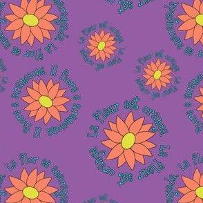 La Fleur Est Orange
