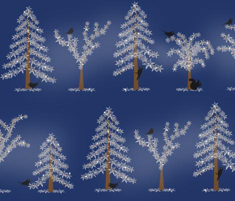 Winter Woodland fabric by jasmo on Spoonflower - custom fabric