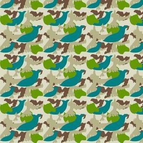 Animal Silhouette Camo Ocean