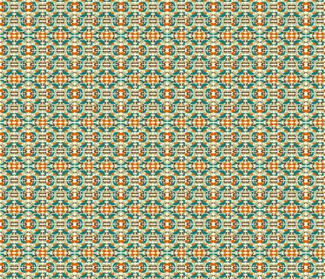 Animal Silhouette Ikat Desert fabric by gandg on Spoonflower - custom fabric