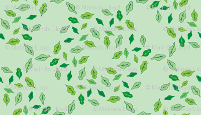 Radial Leaves - Green