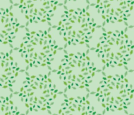 Radial Leaves - Green fabric by lmlloyd-designs on Spoonflower - custom fabric