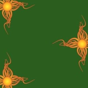Green Tribal Sun Too