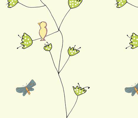 tulip_birds fabric by 5u5an on Spoonflower - custom fabric