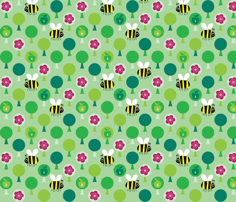 Bee Outside! fabric by spellstone on Spoonflower - custom fabric