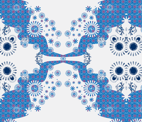 snowy roads fabric by snork on Spoonflower - custom fabric