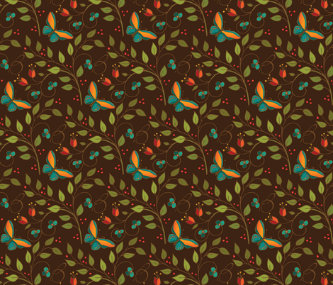 Chocolatebutterflies fabric by leslipepper on Spoonflower - custom fabric