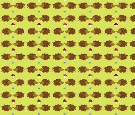 Small Woodland Friends fabric by wastenotsaks on Spoonflower - custom fabric
