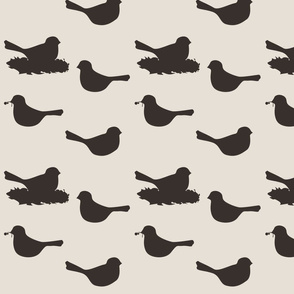 birds- brown/tan