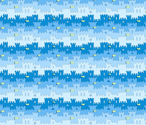 castle_walls_I fabric by jojoebi_designs on Spoonflower - custom fabric