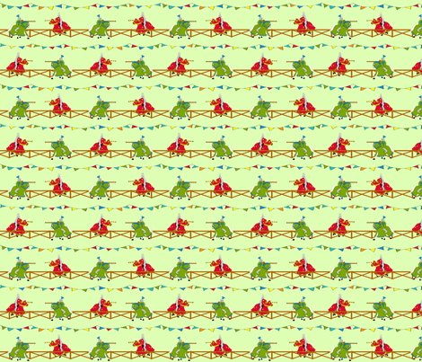 knight_jousting fabric by jojoebi_designs on Spoonflower - custom fabric