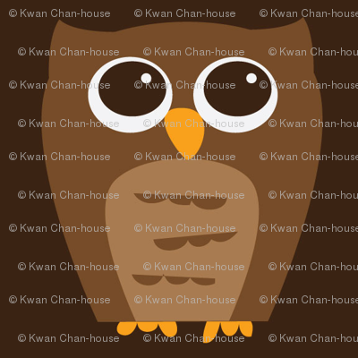 Large Wise Brown Owl