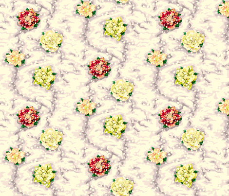 Lenten_roses_in_snow fabric by thatswho on Spoonflower - custom fabric