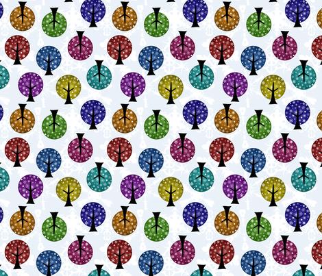 Retro Snowflake Trees fabric by joyfulrose on Spoonflower - custom fabric