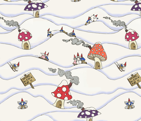 Gnome, Alaska fabric by ceanirminger on Spoonflower - custom fabric