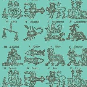 Zodiac Woodcut