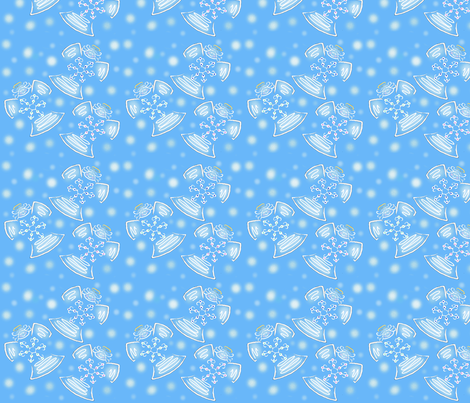 snowangels fabric by kre8or on Spoonflower - custom fabric