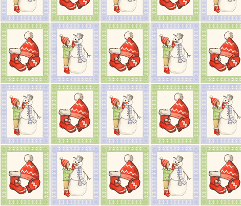 snowday fabric by mytinystar on Spoonflower - custom fabric
