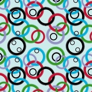small, interlocking gears