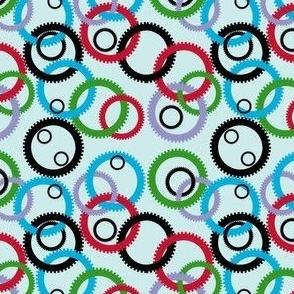 small, interlocking gears