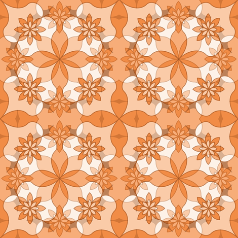 Sweet Garlands - Peach fabric by strive on Spoonflower - custom fabric