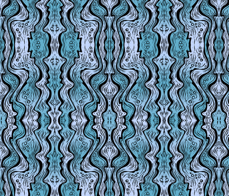 Water (soft blue) fabric by jenithea on Spoonflower - custom fabric