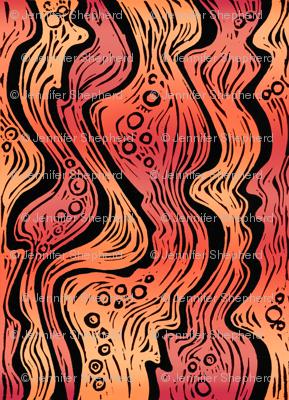 Lava (bright orange/red)