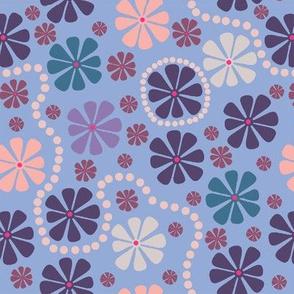 floating flowers purple
