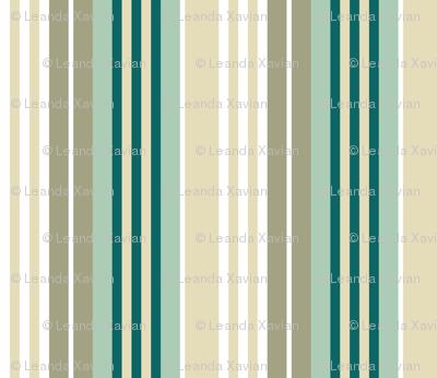 Bognor Stripe in ocean