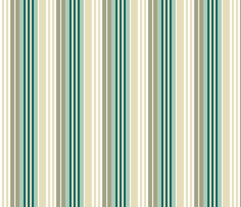 Bognor Stripe in ocean fabric by onelittlebird on Spoonflower - custom fabric