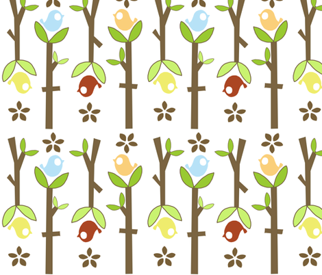 Birds and Branches fabric by emilyb123 on Spoonflower - custom fabric