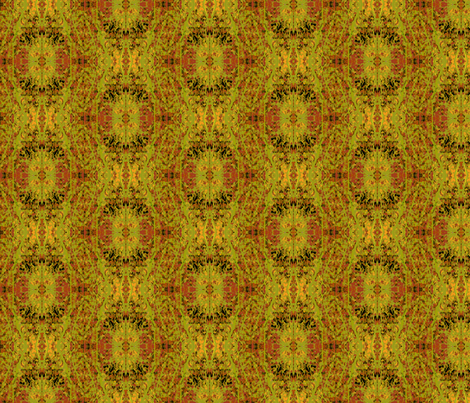 Russet and Green Reflections fabric by karendel on Spoonflower - custom fabric