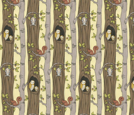tree party fabric by ceanirminger on spoonflower custom