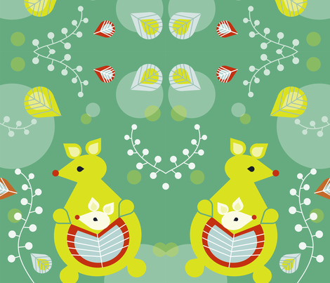 Kangaroo in Forest fabric by eva_chang on Spoonflower - custom fabric