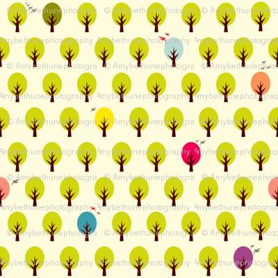 confetti forest white