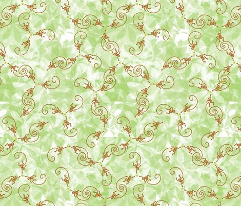 monkey wants apple fabric by nicholeann on Spoonflower - custom fabric
