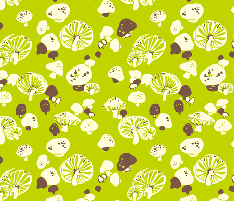 Mushroom March fabric by rowstudio on Spoonflower - custom fabric