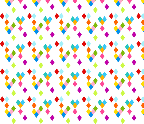 Festive Diamonds fabric by carinaenvoldsenharris on Spoonflower - custom fabric