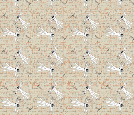 Vitruvius Maths fabric by hushaby&quirks on Spoonflower - custom fabric