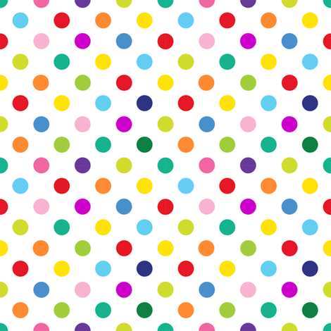 Polly - Spots/White (S) fabric by spellstone on Spoonflower - custom fabric