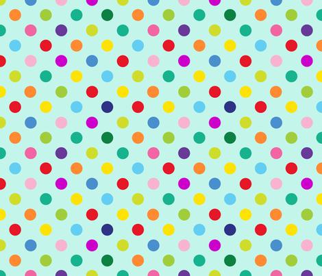 Polly Spots/Aqua (M) fabric by spellstone on Spoonflower - custom fabric