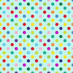 Polly Spots/Aqua (M)