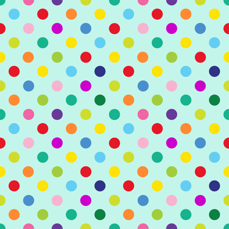 Polly Spots/Aqua (S) fabric by spellstone on Spoonflower - custom fabric