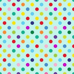 Polly Spots/Aqua (S)