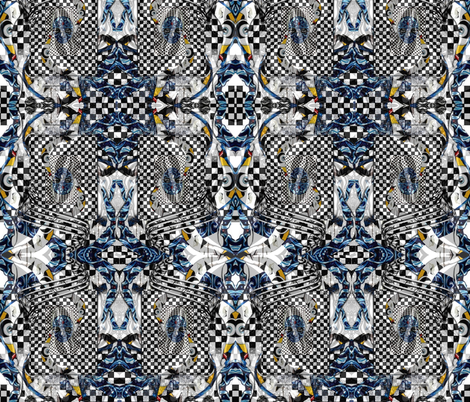 Singing the blues fabric by whimzwhirled on Spoonflower - custom fabric